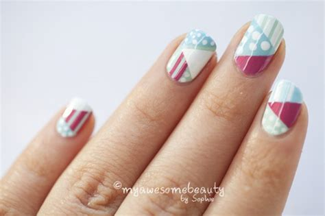 easy nail art designs using scotch tape image gallery nail art using tape