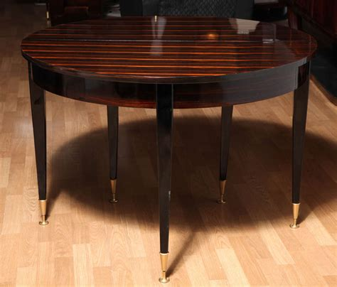round expandable dining room table fabulous art deco round expandable dining table at 1stdibs