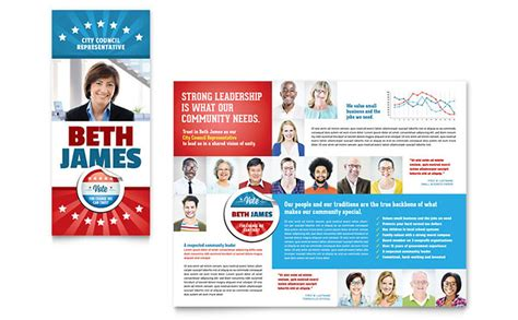 political templates political candidate brochure template design