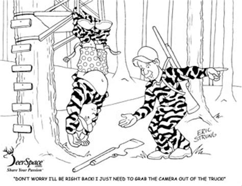 deer stand coloring pages coloring pages hunter ed adventures
