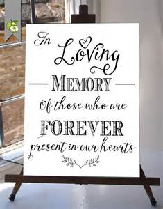 in loving memory wedding sign in loving memory wedding sign memorial table 8x10 and