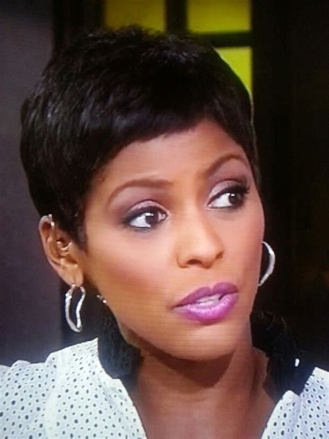 tamron hall hairstyles tamron hall pixie great earrings super cute pixie