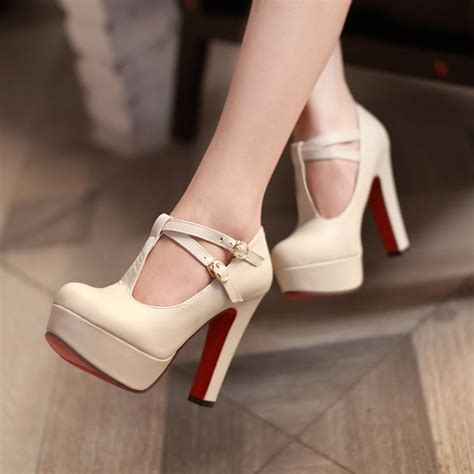 Sandal Wanita Ir 12 Wedges 3cm janes platform t shoes womens high heels wedding nightclub shoes ebay