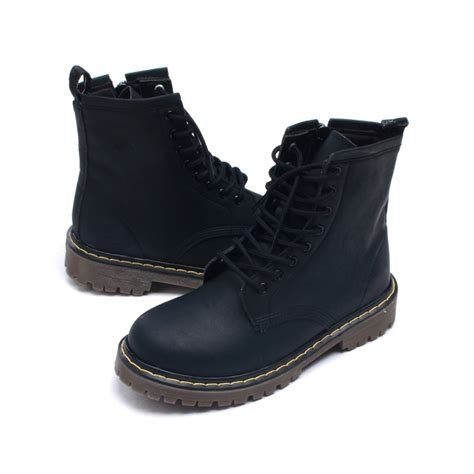 mens matt black ankle boots