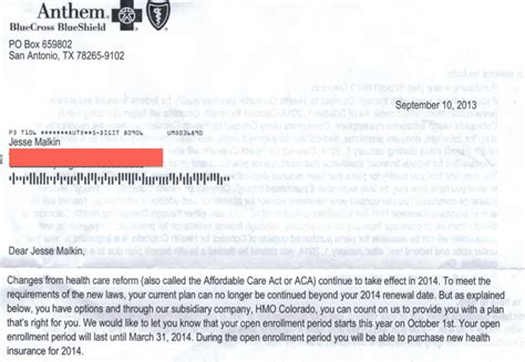 Letter To Cancel Kaiser Permanente Insurance Health Insurance Cancellation Notices Soar Above Obamacare Enrollment Rates Pundit From