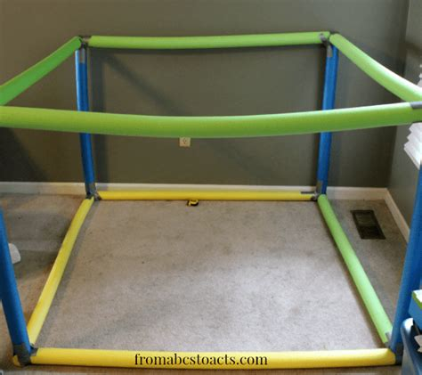 Using Pool Noodles to Build a Play House   From ABCs to ACTs