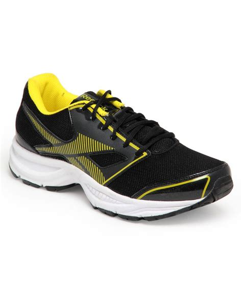sturdy running shoes reebok sturdy black and solar green running shoes price in