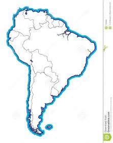 physical map of south america blank south american map blank stock illustration image of