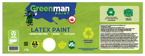 Greenman Is Our Latest Customer Paint Can Label Template