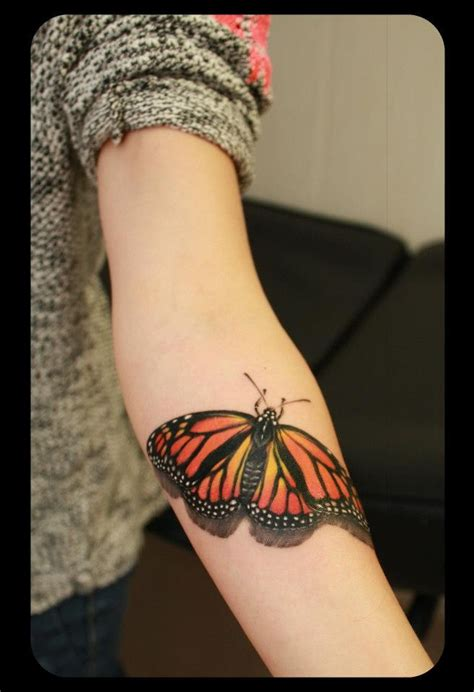steel and ink tattoo mariposa monarca tatus by gabika