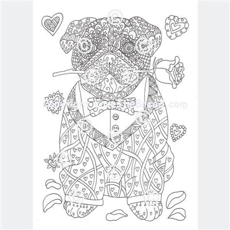 pug coloring pages for adults pug coloring book for adults and children volume 1 lovethebreed