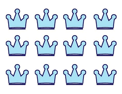 prince crown template blue prince crown template