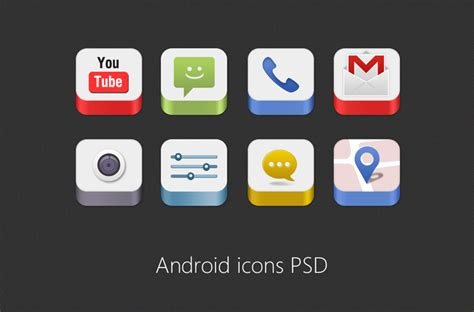 android app icons android icons psd for free freebie no 86