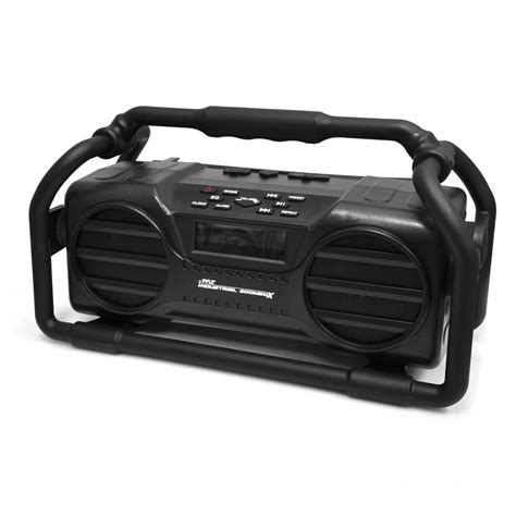 rugged boombox pylehome pjsr350bk home and office portable speakers boom boxes sports and outdoors