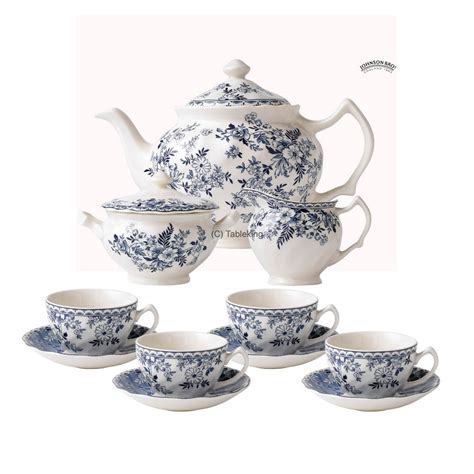 Cottage Dinnerware Sets by Johnson Brothers Cottage Tea Set Stunning Blue And White