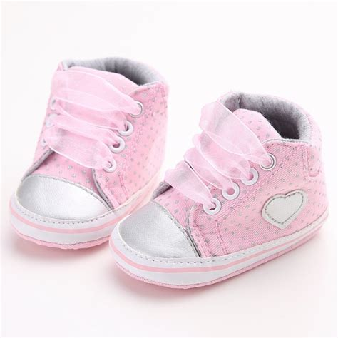Baby Crib Sneakers 0 18m Infant Toddler Baby Laces Sneakers Baby Crib Shoes Soft Sole Shoes Ebay