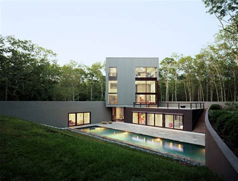 modern home design new york long island underground architecture by new york firm