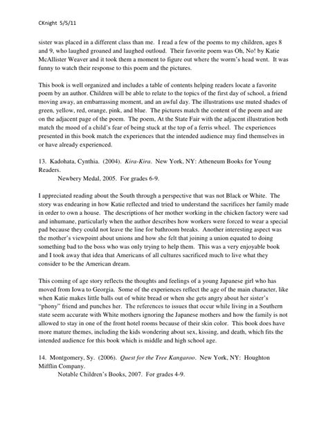 concerning children annotated books children s annotated bibliography