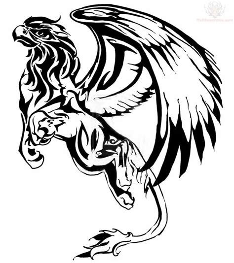 griffin tribal tattoo 22 tribal griffin tattoos ideas