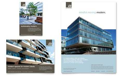 architecture design company architect flyer ad template design