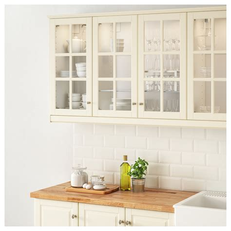 ikea off white kitchen cabinets bodbyn glass door off white 40x80 cm ikea