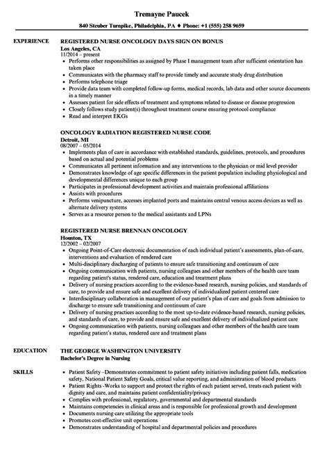 oncology sle resume sles of high school