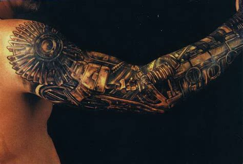 biomechanical tattoo sleeve 24 mechanical designs
