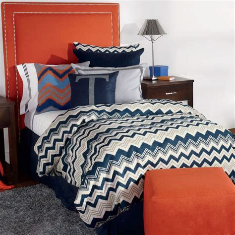 Bunk Bed Comforters Quot Silas Quot Ikat Chevron Fitted Bunk Bed Comforter Bedding For Bunks