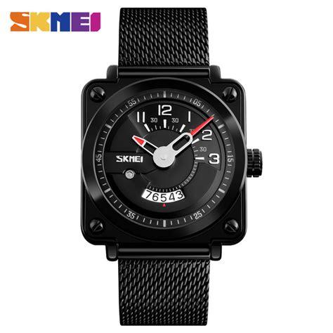 Jam Gc Stainless Steel skmei jam tangan analog pria stainless steel 9172 black jakartanotebook