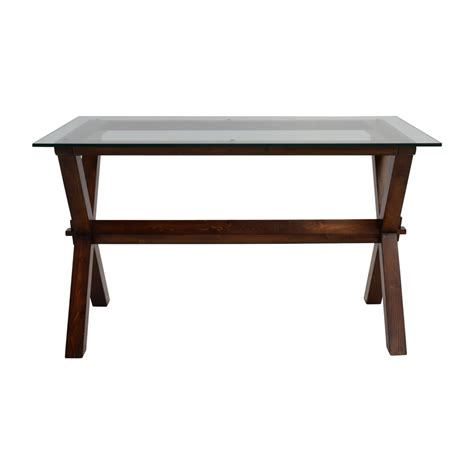 pottery barn glass desk 64 pottery barn pottery barn glass and wood desk