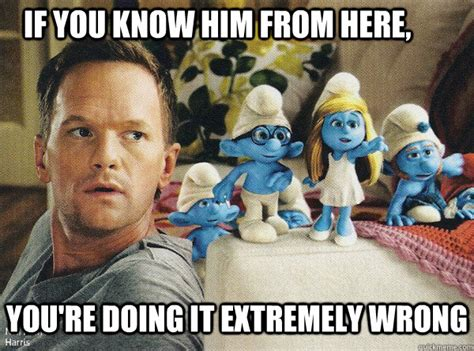 Baby Smurf Meme - if you know him from here you re doing it extremely wrong