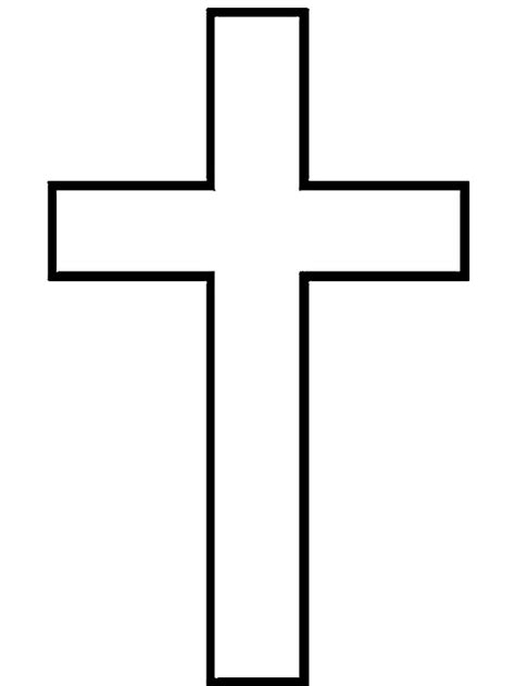 cross coloring page clipart best