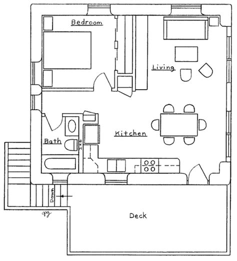 simple apartment floor plans garage apartment plan
