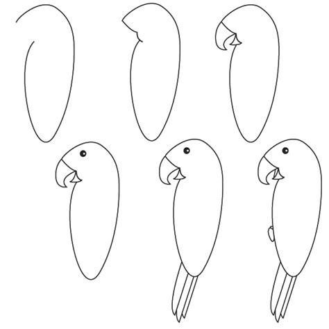 imagenes para dibujar facilmente animales dibujar facil step como dibujar un loro paso a