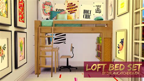 sims 4 bunk beds loft bed set i made a little set for you space saving