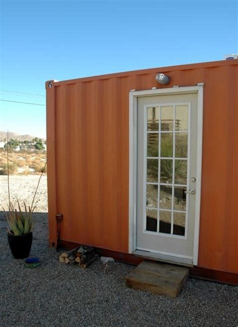 Shipping Container to Backyard Office in the Desert Conversion
