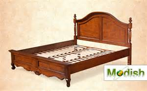 Solid Wood Bed Frame Size American Classic Style Carved Solid Wood Bed Frame