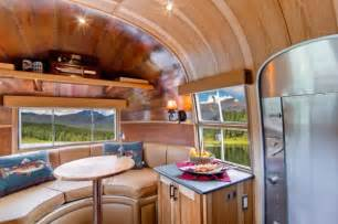Vintage Camper Decor 1954 Airstream Renovated Into Timeless Tiny Cabin On Wheels