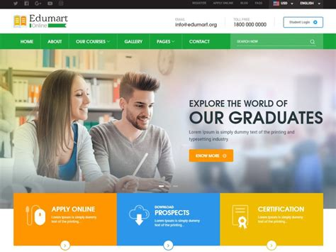 25 Amazing Education Website Templates For College Universities Free Sle Html Web Page Templates