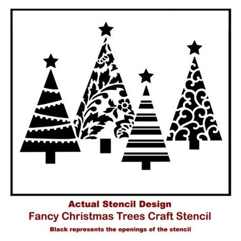 stenciling quick and easy christmas wall decor tree
