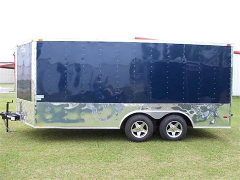 blue trailer elite indigo blue 8 5x16 cargo trailer 438 american