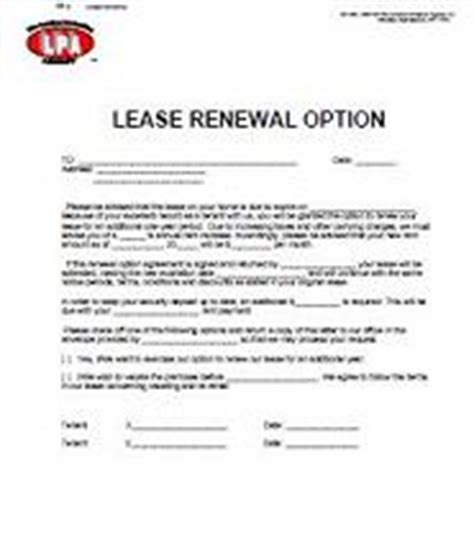 Lease Renewal Notice Letter Lease Renewals And Non Renewals