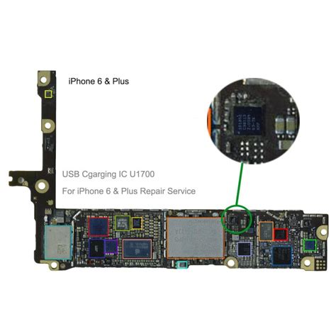 usb charging ic u2 1610a2 for iphone 6 plus repair service itechfixit