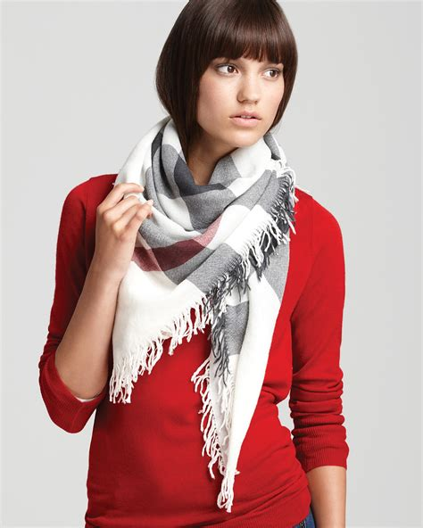 burberry color check wool scarf bloomingdale s