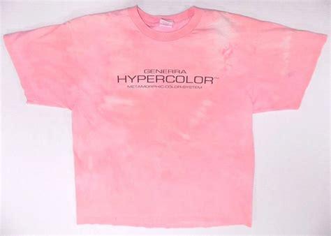 hyper color shirt retro generra hypercolor pink t shirt metamorphic color