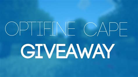 Optifine Cape Giveaway - minecraft optifine cape giveaway july 2015 over youtube