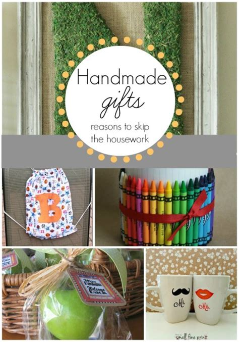 Handmade Gifts - handmade gift ideas reasons to skip the housework