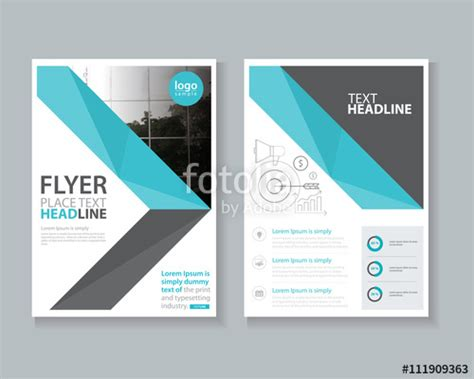 layout of a cover quot page brochure flyer report layout design template and