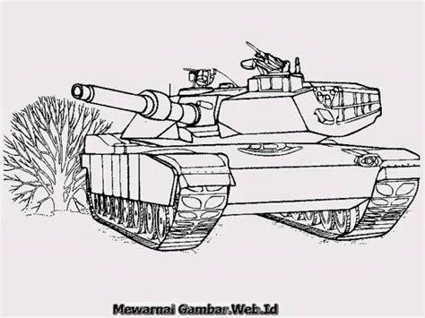 mewarnai mobil tank mewarnai gambar mobil