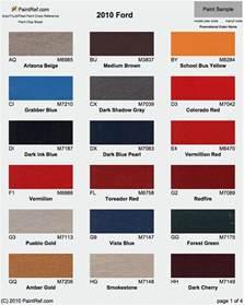 ford color codes ford race paint code autos weblog